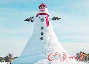 网友眼中东北的雪人