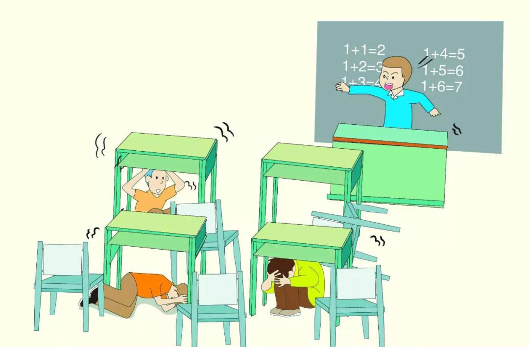 动画丨在学校,遇到地震,学校要这样组织撤离…