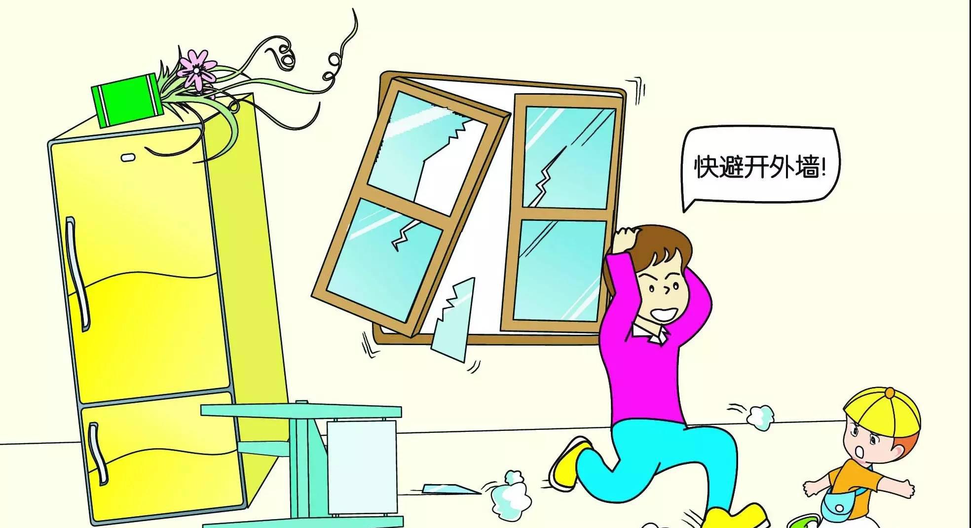 动画丨地震了!身在楼房,不要慌,躲避有技巧!